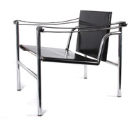 lc 1 basculant chairs by le corbusier, charlotte perriand and pierre jeanneret