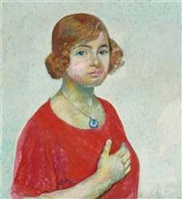 porträt von lucie meyer by cuno amiet