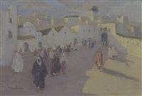 nordafrikanische strassenszene by marie burckhardt