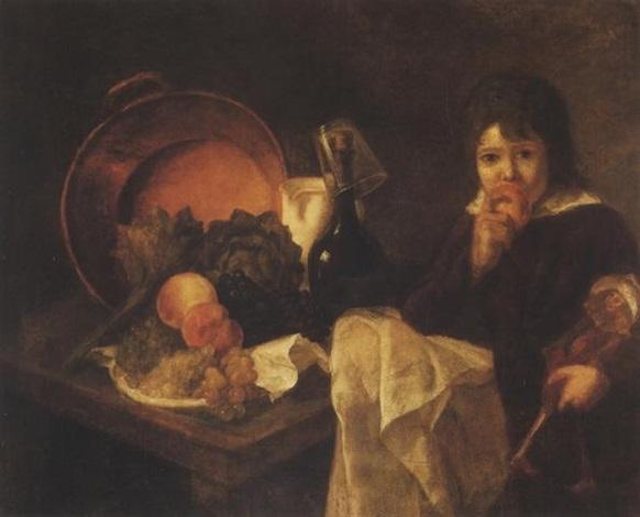 stilleben und kind mit puppe by jean baptiste siméon chardin