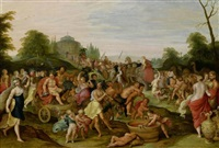 der triumphzug des bacchus by frans francken the younger and hieronymus francken iii