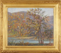 autumn along the delaware river by samuel george phillips