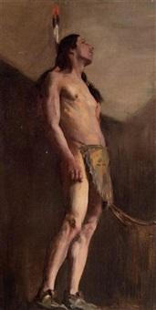 standing indian by clara d. davidson