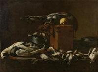 stilleben mit erlegtem vogelvieh by evaristo baschenis