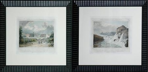 saw mill at the village of glenns saratoga springs 2 works from intineraire du fleuve hudson by jacques gerard milbert
