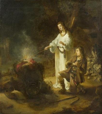 gideon und der engel by gerbrand van den eeckhout