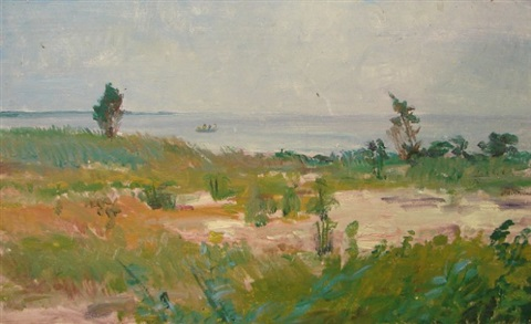 seaside landscape by louis b sloan