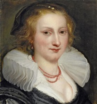 frauenportrait by jan van den hoecke