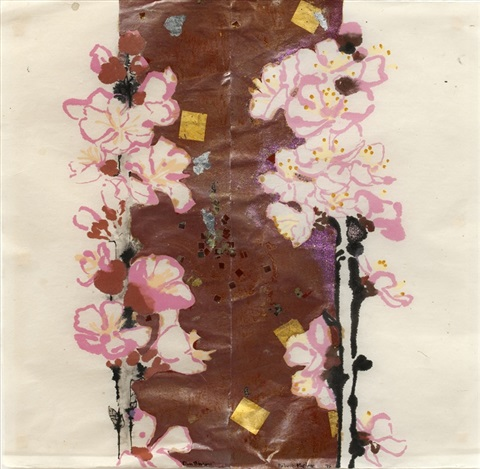 plum blossoms sold with 306ac set of 3 by robert kushner