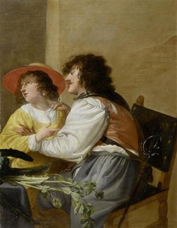 liebespaar in einem gasthaus by theodoor rombouts