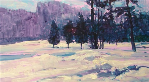 winter landscape by louis b sloan