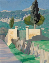 route de sainte-anne et le faron by félix edouard vallotton