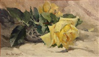 yellow roses by william hubacek