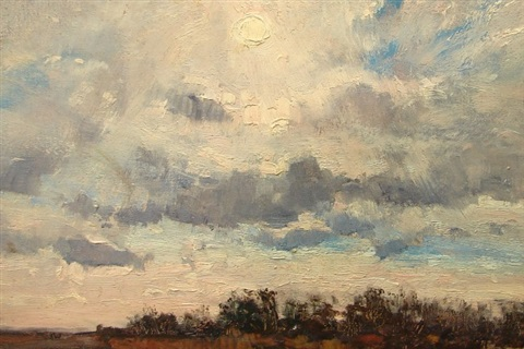 sunset landscape by louis b sloan