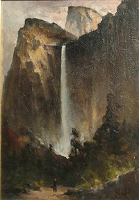 bridal veil falls, yosemite by edward rufus hill