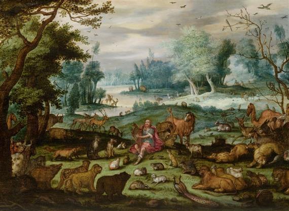 orpheus spielt vor den tieren by jan brueghel the younger