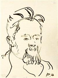 herrenporträt von h(einrich) j(akob) b(urger) by ferdinand hodler