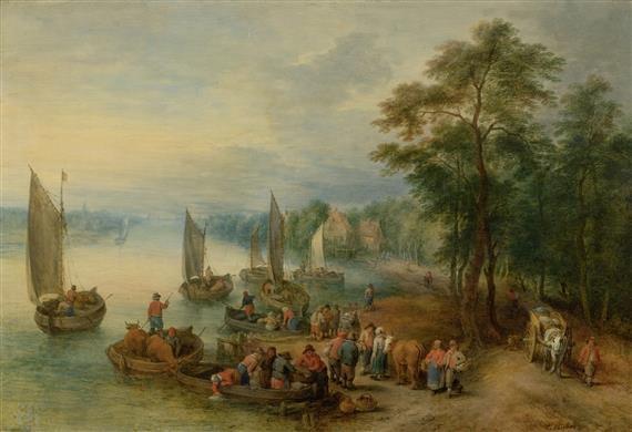viehhändler in einem hafen by theobald michau