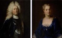 bildnis von gabriel von wattenwyl (+ bildnis seiner ehefrau margaritha, geb. daxelhofer; pair) by johann rudolf huber the elder