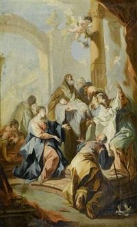 darbringung im tempel by josef ignaz mildorfer
