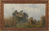 landscape with cornstalks by charles henry miller