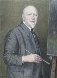 portrait of the artist by stephan peter jakob hjort ussing