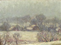 winter landscape by platt hubbard
