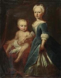 bildnis ana magdalena keller, geboren 1733 und susanna keller, geboren 1739 by johannes simmler