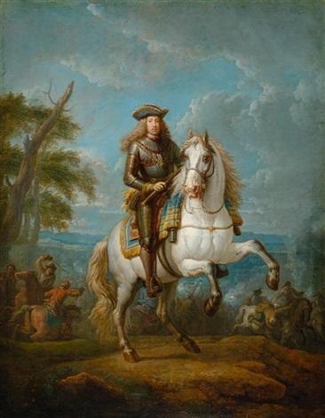 kaiser karl vi ritter vom goldenen vlies erzherzog von österreich und könig von ungarn zu pferd by pieter van bloemen