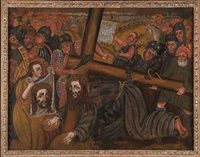 the road to calvary by peruvian school-huancayo