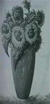 sunflowers by cornelius johannes snoeyerbosch