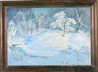 interior woodland scene by chauncey m. adams