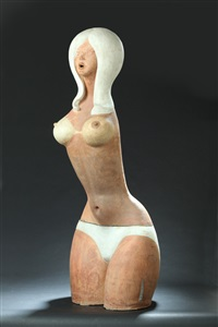 semi nude female figure by jack earl