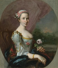 portrait of a young lady from the tiepolo family, possibly elena (1726-1776) by francesco guardi