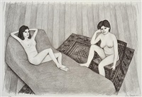 double nude ii by john brack