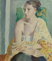 porträt einer frau by wilhelm gimmi