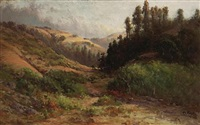 rolling hills, thought to be marin county by thomas henry rabjohn