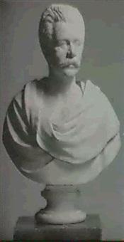 portrait bust of a gentleman by randolph john rogers