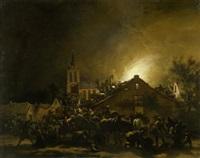 nächtliche plünderung by egbert lievensz van der poel