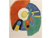gravure ii (from six planches) by sonia delaunay-terk
