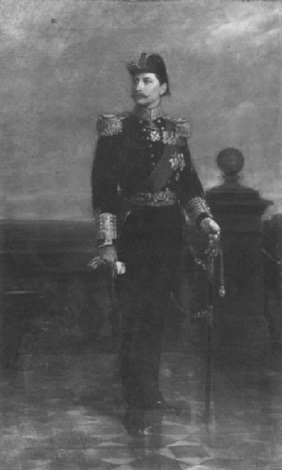 portrait of kaiser wilhelm by rudolf wimmer
