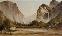 yosemite valley by thomas virgil troyon hill