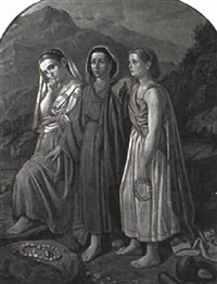 three peasant women by c. fontana