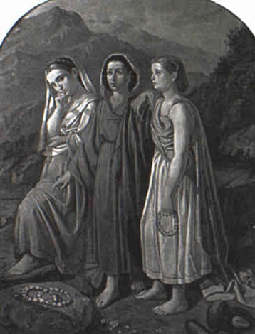 three peasant women by c fontana