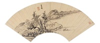landscape by bai shangbi
