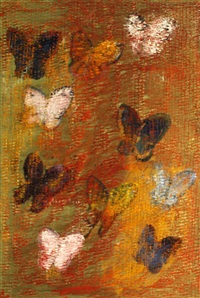 red butterflies, 2009 by hunt slonem