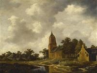 landschaft mit kirche by salomon rombouts