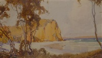 sunlit coastline by harold brocklebank herbert