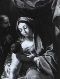 heilige familie unter einem baldichin by johannes baise