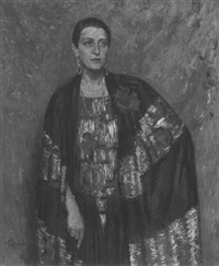 portrait of a fashionable woman by ernst pickardt